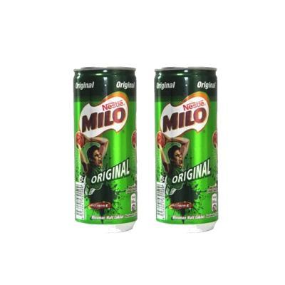 Milo Minuman Cokelat 240ml Kaleng - Bundle 2