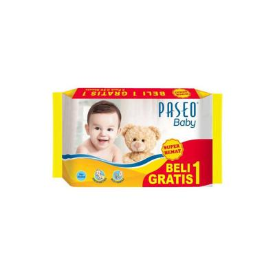 Paseo Baby Wipes With Chamomile  50 sheets BOGOF - Kuning